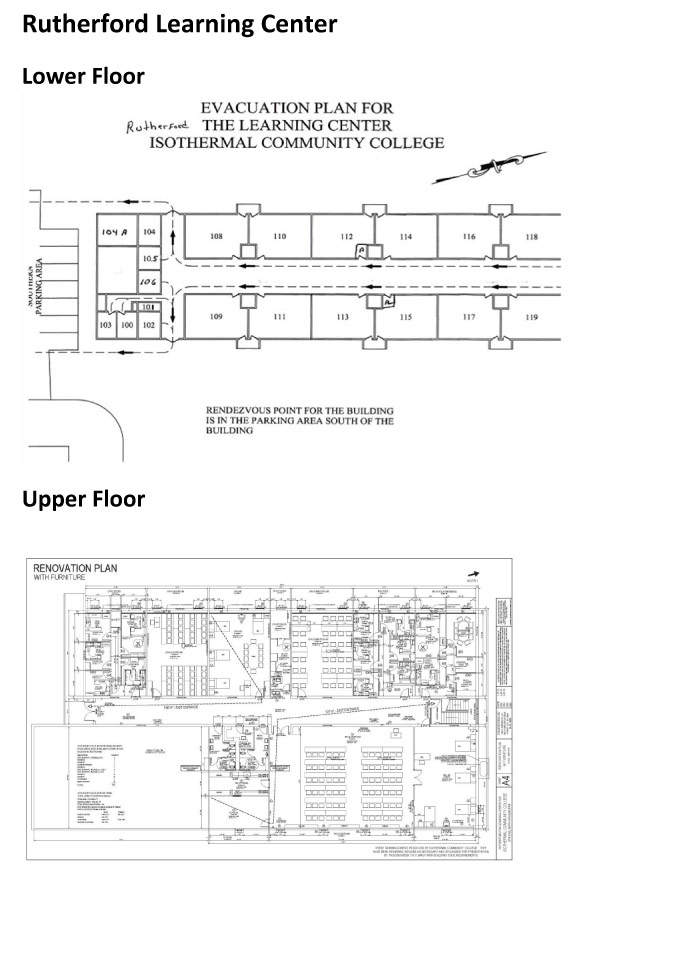 Floor layout of Rutherfordton Learning Center