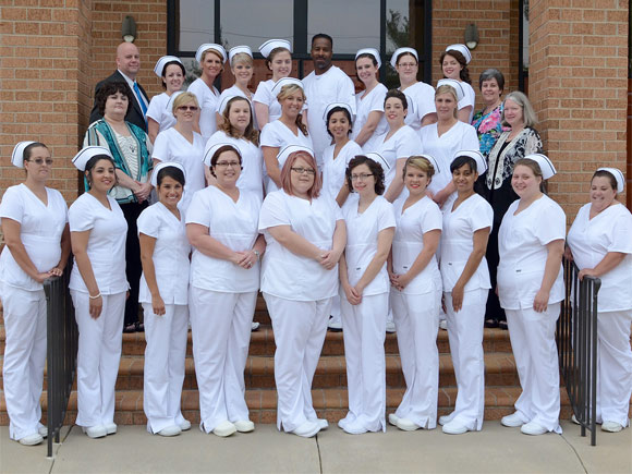 Twenty-seven practical nursing students were awarded their caps and pins at a special ceremony