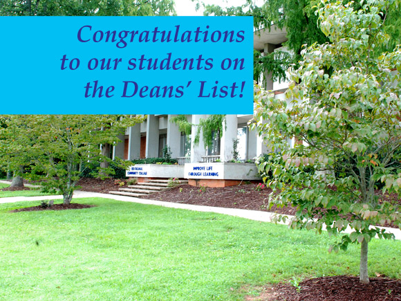 The Isothermal Community College deans have announced the names of 277 area students who were named to the Deans' List for Fall Semester 2014.