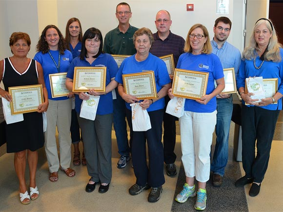 Ten Isothermal Community College staff and faculty members were recognized recently for making outstanding contributions to the institution's learning environment.