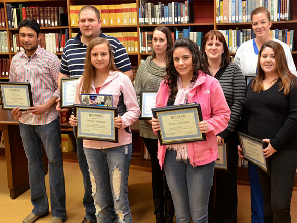 Isothermal Community College officials recently gave special recognition to twelve students.