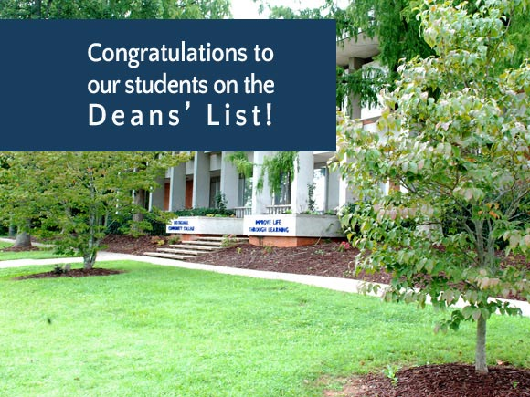 The deans of Isothermal have announced the names of students who were named to the Deans' List for Spring Semester 2015.