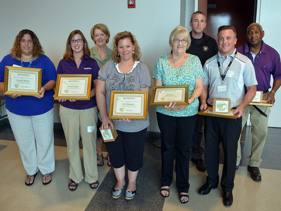 Eight Isothermal Community College staff and faculty members were recognized recently for making outstanding contributions to the institution's learning environment.