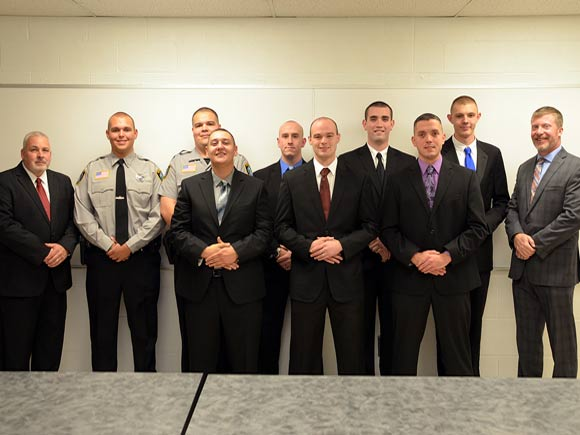 Eight students recently graduated from the Basic Law Enforcement Training (BLET) program at Isothermal Community College after completing nearly ten months of training.
