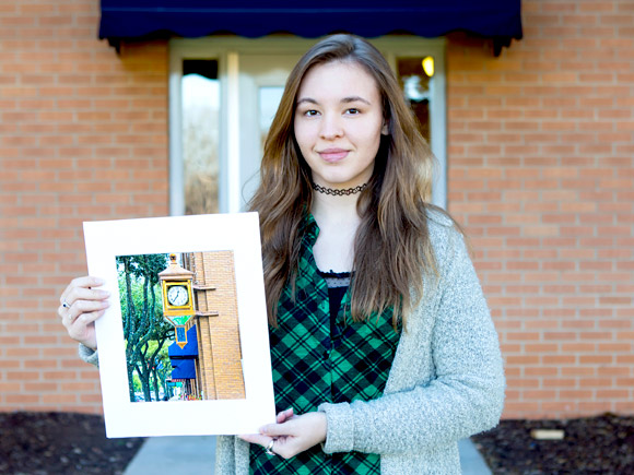 A photography student at Isothermal Community College recently earned honors for her work.