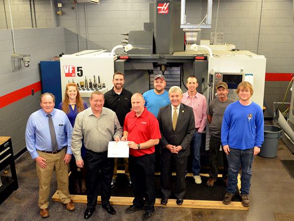 A $25,000 grant from the Gene Haas Foundation will help pay tuition for Isothermal machining students in coming years.