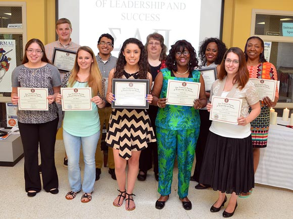 Eleven students at Isothermal Community College were inducted into the National Society of Leadership and Success.