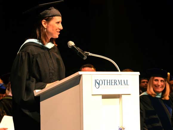 Loreen Smith, an English instructor at Isothermal Community College, earned the institution's highest teaching honor this month.